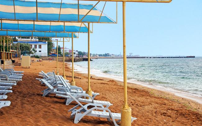 Крым песчаный 1 городской пляж в Феодосии. Набережная Фото. (2)