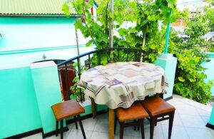 Летняя аренда однокомнатного гостевого дома в Феодосии.