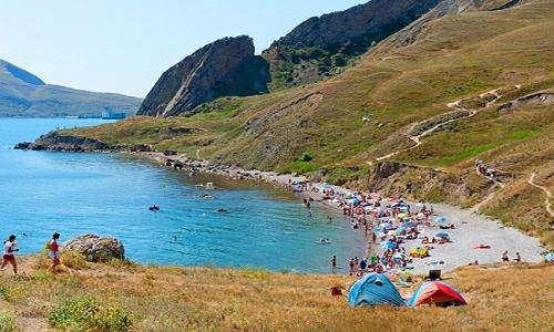 Пляжи на курорте Орджоникидзе, Крым