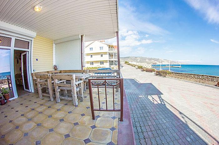 Крым Эллинги Орджоникидзе катран Крым 1 этаж с видом на море. Фото (2)