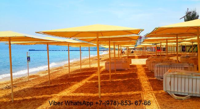 Крым Феодосия пляж песчаный Баунти (2)