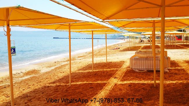 Крым Феодосия пляж песчаный Баунти