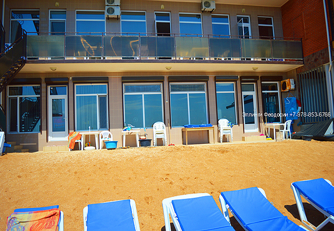 Песчаные пляжи Эллингов в Феодосии